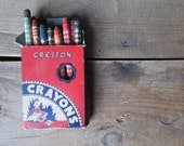 Vintage Box of Crayons Creston Crayons