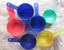 Plastic Coffee Scoops Vintage Collection of 6 Mixed Media Supply