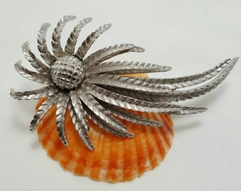 Textured Silver Tone Pin