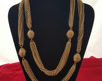 Chain and station necklace