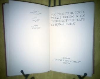 1934 Bernard Shaw 1st Edition **FREE SHIPPING**