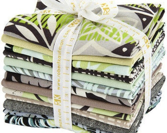 Fat Quarter Bundle in Charcoal Colorway from Marks Quilt Fabric Collection by Valori Wells