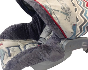 Vintage Airplane Infant Car Seat Cover