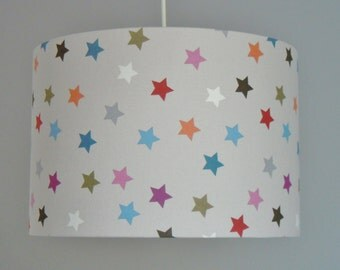 Lamp shade stained stars