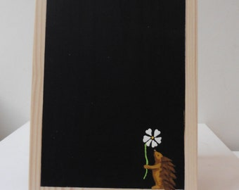 Medium Chalkboard Memo with hedgehog motif