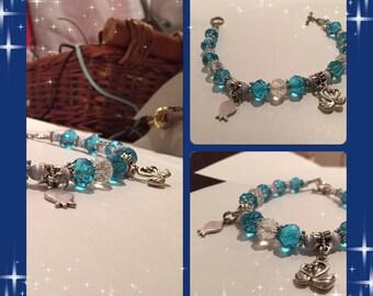 Bracelet Swan of blue water