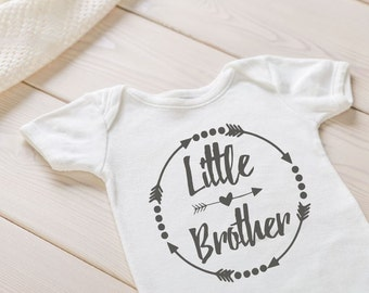 Little Brother Pregnancy Announcement Onesie, Baby announcement Onesie, Custom Baby Onesie, Custom baby announcement, Big Brother Onesie