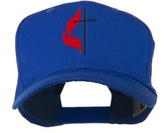 Methodist Church's Cross Embroidered Cap