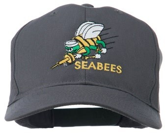 US Navy Seabees Military Embroidered Cap