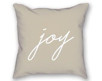 Joy Pillow – Christmas Pillow, Holiday Pillow