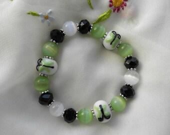 AVM Suvivor Bracelet - Three Green Butterflies