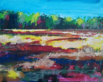 Abstract Landscape Painting by Michael Pintar