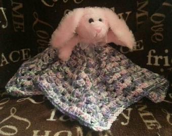 Soft plush bunny lovey