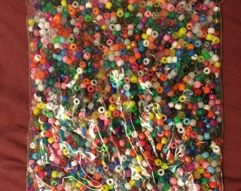 Mixed bag 1kg kandi bead supplies pony acrylic wood