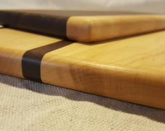 Walnut & Maple Cutting Board Set