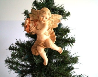 Vintage Christmas Angel.  Decorations for Christmas trees. Christmas decoration. Antique ornament. Christmas ornament. Vintage home decor