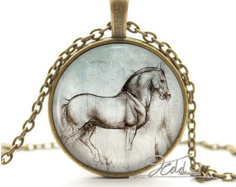 Horse collar with Medallion pendant bronze with Medallion representing a horse no. 0298