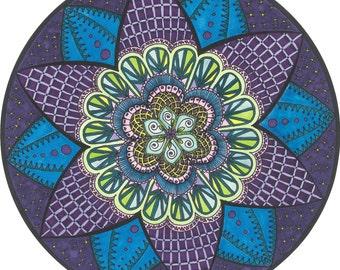 Purple Star Mandala
