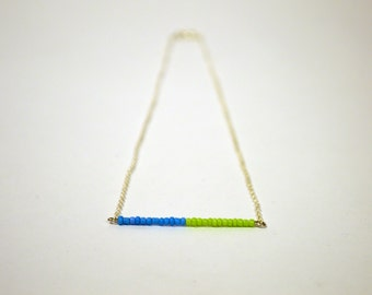 Minimalist Colorblock Necklace