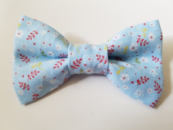 Light Blue Flower Bow for Cat or Small Dog Collars, 100% Sales Goes to Feeding Feral Cats