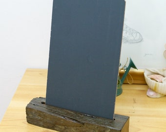 Rustic Chalkboard (small offcut piece) with Stand/Holder, Rustic Fence Post Chalkboard (B3)