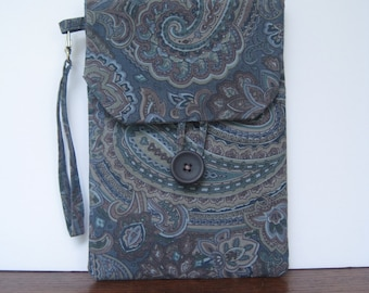 Blue Paisley Pattern Kindle Case / Cover / Sleeve