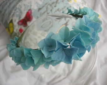 Light Blue Hydrangea hairband