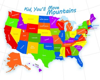 USA Map for Children | Kid Youll Move Mountains