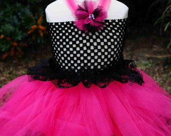 READY To Ship !!!!   Tutu Dress with hand-made bows and sashes just like the girl in Maria Brothers... Princess Peace