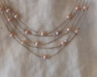 Silver Enchanting Strand with Pearls