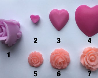 soap hearts and roses