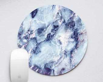 Blue Marble Mouse Pad Marble Mousepad Round Mouse Pads Stone Mouse Mat Office Supplies Rectangular Mousemat Office Desk Accessories PP5040