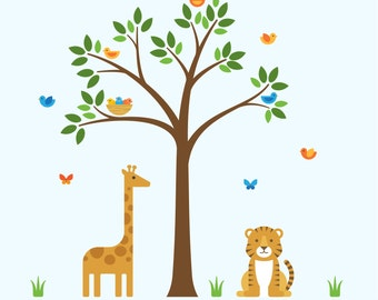Wall Decal Nursery Tree, Wall Decal Nursery, Nursery Tree Decal - X-Large