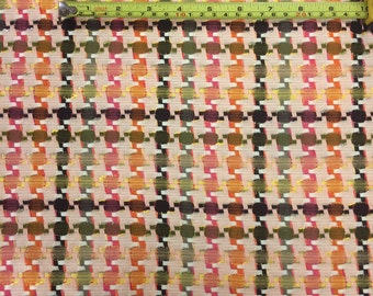 2 meters Colourful tweed - 100% Cotton