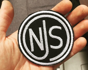 njs stamp embroidered patch