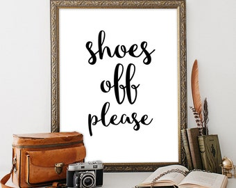 Shoes off sign Entrance sign Rustic house decor Housewarming party decorations Remove your shoes sign Woodland party supplies Hallway signs