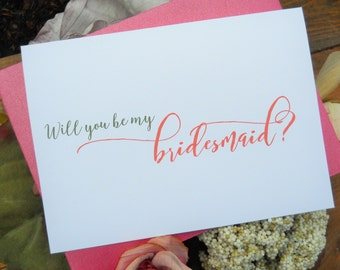 Will  You BE MY BRIDESMAID Card, Choose Your Colors, Bridesmaid Card, Bridesmaid Proposal, Ask Bridesmaid Card, Bridesmaid Gift