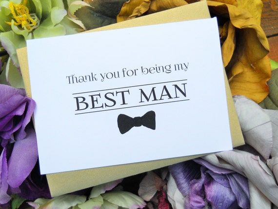 thank you for being my best man card best man thank you card