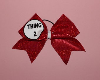 Thing Two Cheerleading Bow