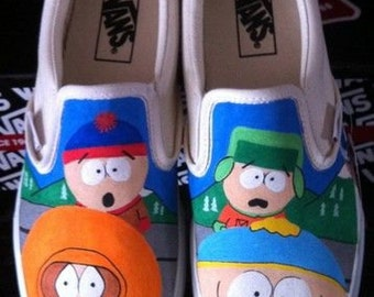 South Park hand painted shoes