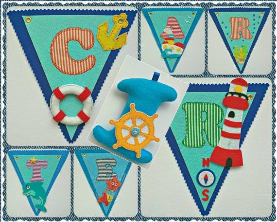 nautical name birthday party banner little sailor name