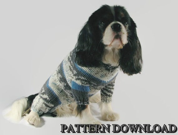 Knitting Pattern For Medium Sized Dog : Dog sweater pattern Knit dog sweater Dog knit by DesignedForDog