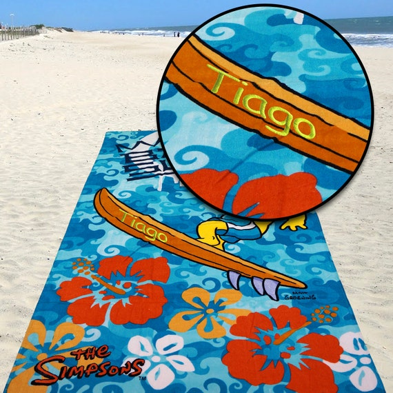 Personalised Beach Towel Pegs: Kids Boys Gift Personalized Beach Bath Pool Towel The