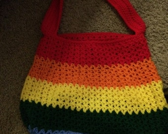 rainbow beach bag