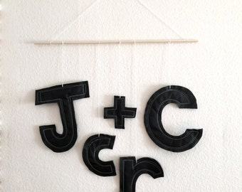 Custom Letter Initial Mobile Wall Hanging