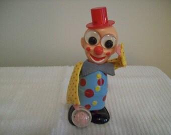 Vintage Wind Up Toy Clown Japan