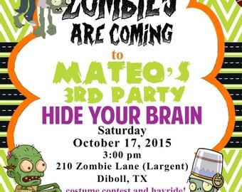 Zombie Birthday Party