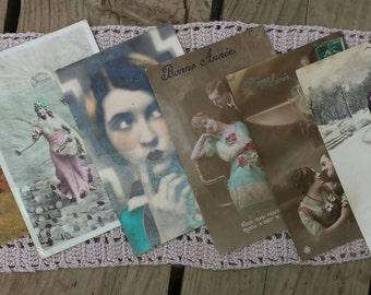 Pack of 6 cards post good year vintage n2