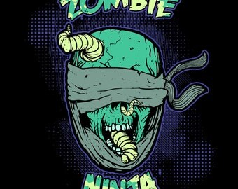 Zombies # 13 - 8 x 10 - T Shirt Iron On Transfer - Zombie Ninja