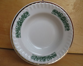 Set of 2 vintage porcelain soup plates by Prokopievsky factory. Soviet porcelain.  Russian and Soviet vintage. 1970s